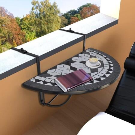 Mesa colgante con mosaico