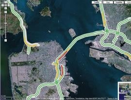 Situación del tráfico con Google Maps