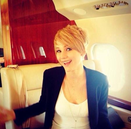 Jennifer Lawrence corta (su cabello) por lo sano