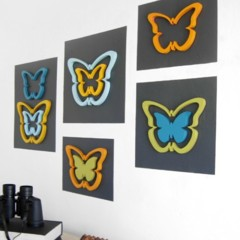 Foto 2 de 5 de la galería una-buena-idea-decorar-la-pared-con-mariposas en Decoesfera