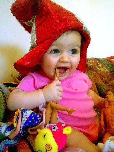 La foto de tu bebé: Martina y sus juguetes