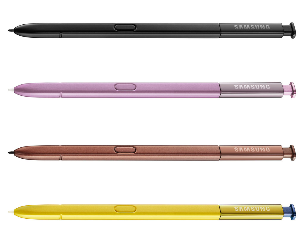 Samsung Galaxy Note 9 S Pen Colores