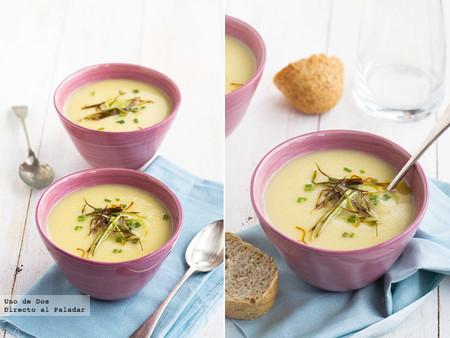 Receta de crema de coliflor al azafrán, un plato de cuchara repleto de sabor