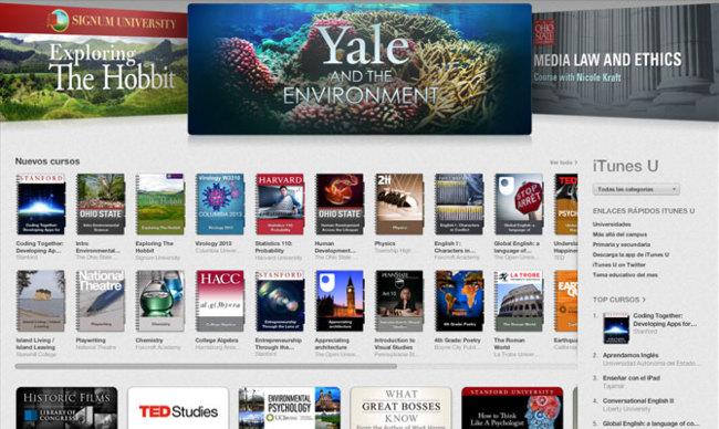 iTunes U educación