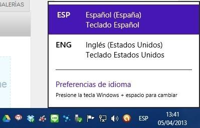Distribucion regional barra de idiomas
