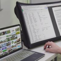 SPUD es el primer monitor portátil de 24 pulgadas que se repliega como una sombrilla