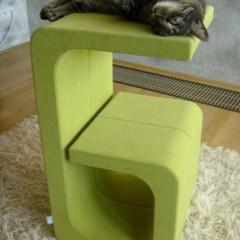 Foto 5 de 5 de la galería catworks-un-rascador-para-el-gato-con-la-inicial-de-su-nombre en Decoesfera