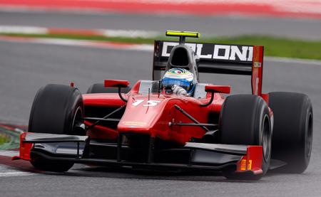 Luca Filippi, el más rápido en el primer día de pruebas de la GP2 en Barcelona con dos pilotos de casa