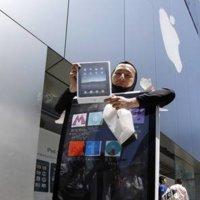 Imagen de la semana: Lo que hay que hacer para conseguir un iPad y llamar la atención