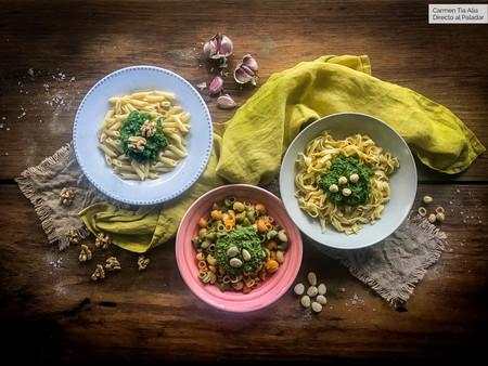 Tres deliciosas versiones de la salsa pesto tradicional y siete recetas en que usarlas (con vídeo incluido)