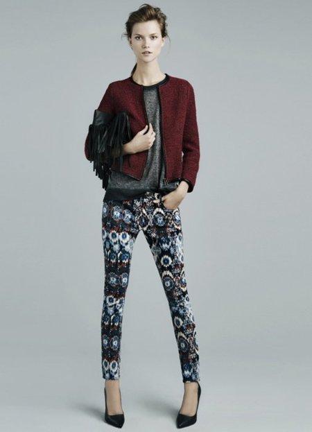 Burdeos Zara lookbook noviembre