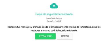 Cómo restaurar una copia de seguridad en WhatsApp para Android
