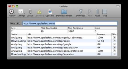 Descarga páginas web y todo su contenido a tu Mac