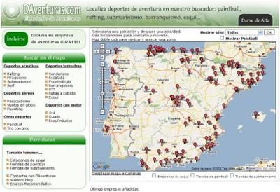 DAventuras: directorio de empresas de turismo de aventura en España