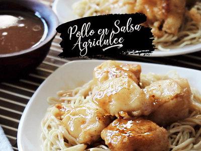 Pollo frito en salsa agridulce. Receta en video