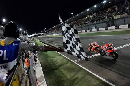 Andrea Dovizioso Marc Marquez Gp Catar Motogp 2018