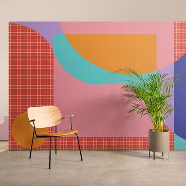 Papeles pintados inspirados en el Grupo Memphis para dar alegría a un rincón del hogar ¿te atreves?