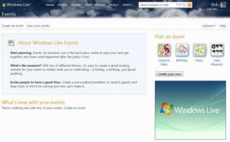 Microsoft dará de baja a Windows Live Eventos el 2010