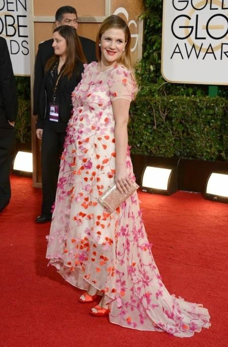 Drew Barrymore look globos de oro 2014