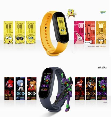 Xiaomi Mi Band 5 Oficial Watchfaces Bob Esponja Evangelion