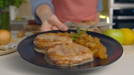 Tournedó de cordero Ternasco de Aragón con puré de manzana al romero y salsa de membrillo
