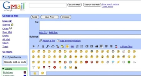 GMail con emoticonos