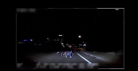 Fotograma del vídeo que el coche autónomo de Uber registró del atropello en Arizona