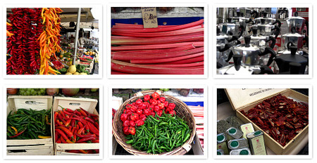 Mercado Campo dei Fiori. Collage