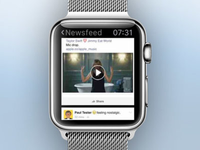 Littlebook consigue reducir Facebook a la pantalla del Apple Watch