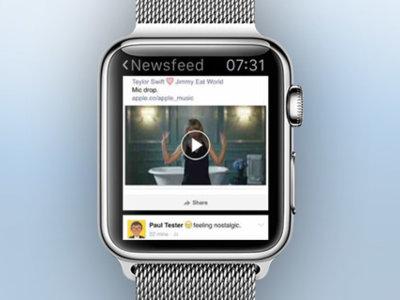 Littlebook consigue reducir Facebook a la pantalla del Apple Watch