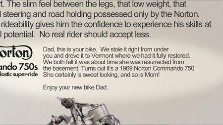 El mejor regalo de navidad, Norton Commando 1969