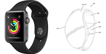 patente Apple Watch flexible