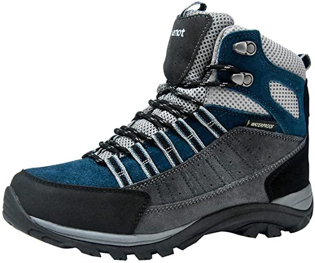 riemot Botas de Senderismo y Campo para Mujer Hombre, Zapatillas Altas de Trekking Zapatos de Montaña Escalada Aire Libre Calzado Impermeable Ligero Antideslizantes Sneakers