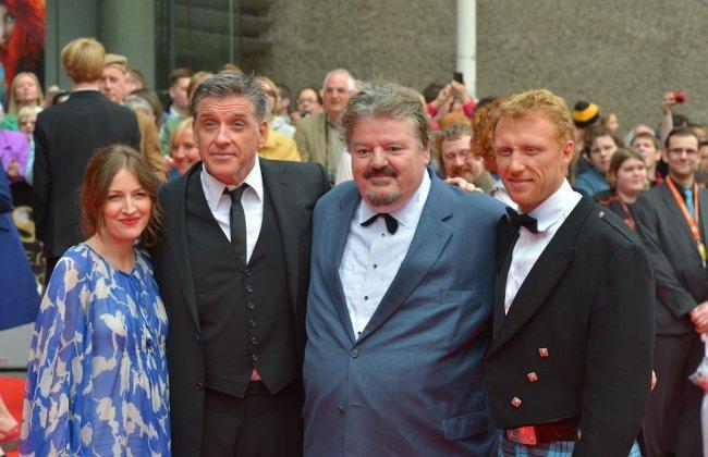 Kelly Macdonald, Craig Ferguson, Robbie Coltrane y Kevin McKidd en la estreno de Brave