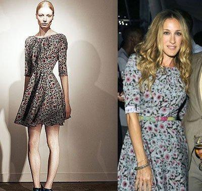 Sarah Jessica Parker divina una vez más con un vestido de flores