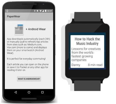 PaperWear, una aplicación para leer artículos en tu Android Wear