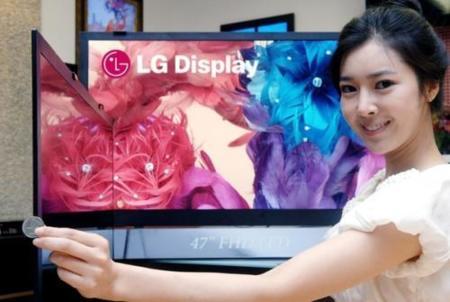 Televisión LCD de LG con grosor de 5.9 mm