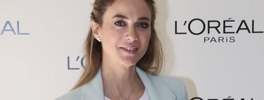 Marta Hazas nos demuestra que con traje de chaqueta en tono pastel también se puede triunfar en cualquier evento de primavera