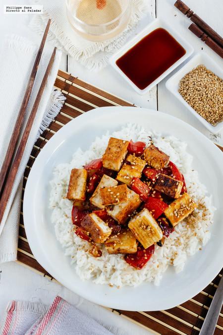 Tofu Asado Con Verduras Y Soya