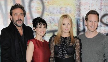 Jeffrey Dean Morgan, Carla Gugino y Patrick Wilson con Malin Akerman en la premiere de Watchmen