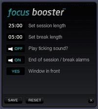 Opciones de Focus Booster