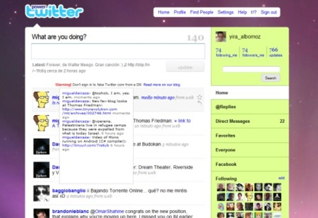 Power Twitter, add on para Firefox que añade prestaciones a la web de Twitter