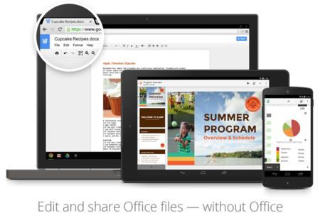 No Microsoft Office, no problem. Google Docs con soporte nativo para archivos office