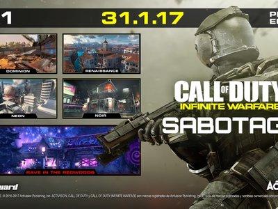 Sabotage será el primer DLC de Call of Duty: Infinite Warfare que llegará el 31 de enero a PS4