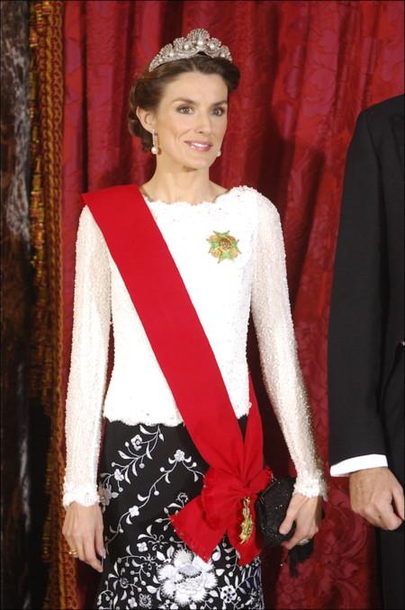 Letizia con Tiara de la Chata