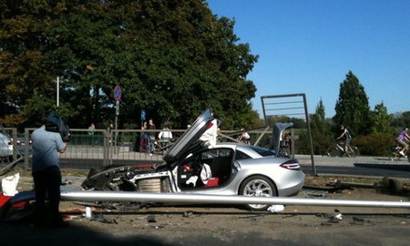 Accidente Mercedes SLR McLaren Varsovia