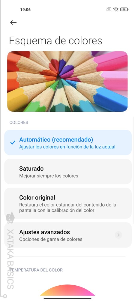 Color Pantalla