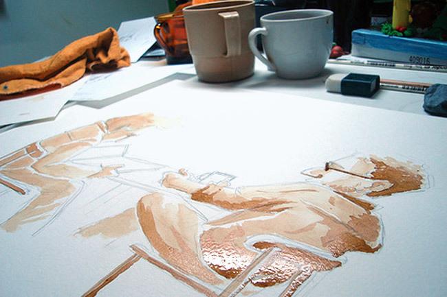 Perfectas ilustraciones con café expreso