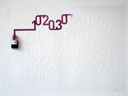 Ink Calendar, calendario de Tinta