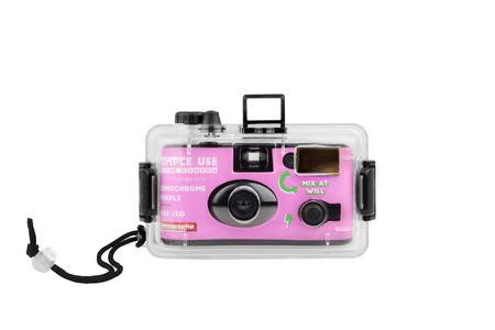 Lomography aqua cámara para fotografía acuatica purple
